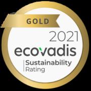 évaluation ecovadis 2021 gold médaille notation RSE